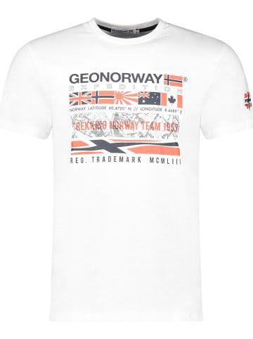 """Geographical Norway Koszulka """"Jerdal"""" w kolorze białym"""