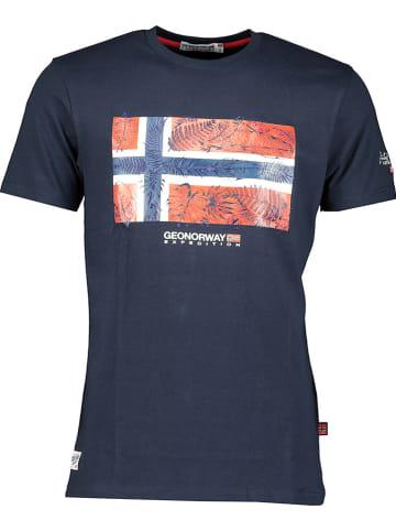 """Geographical Norway Koszulka """"Jpalm"""" w kolorze granatowym"""