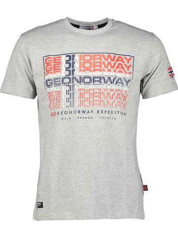 """Geographical Norway Koszulka """"Joroway"""" w kolorze szarym"""