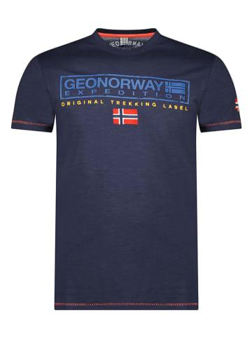 """Geographical Norway Koszulka """"Jasic"""" w kolorze granatowym"""