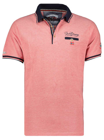 """Geographical Norway Poloshirt """"Kblended"""" koraalrood"""