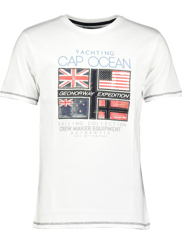 """Geographical Norway Shirt """"Jinapt"""" in Weiß"""