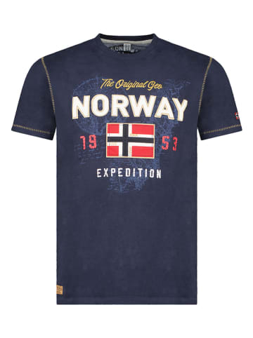 """Geographical Norway Koszulka """"Juitre"""" w kolorze granatowym"""