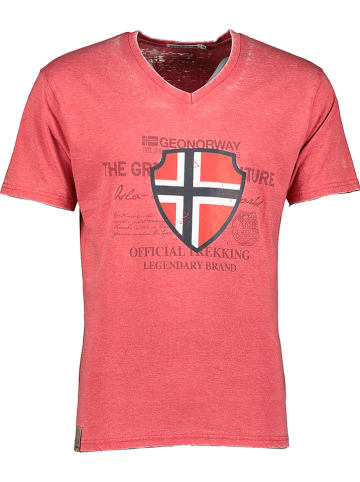 """Geographical Norway Shirt """"Jupiter"""" in Rot"""