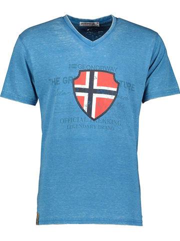 """Geographical Norway Koszulka """"Jupiter"""" w kolorze niebieskim"""