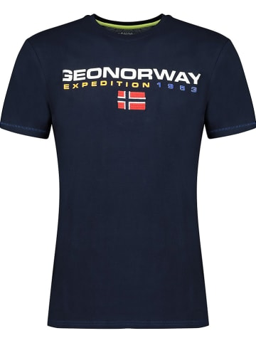 """Geographical Norway Shirt """"Joliver"""" donkerblauw"""