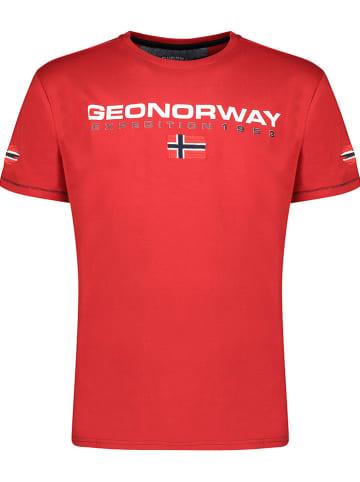 """Geographical Norway Koszulka """"Joliver"""" w kolorze czerwonym"""