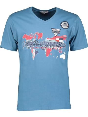 """Geographical Norway Koszulka """"Japaye"""" w kolorze niebieskim"""