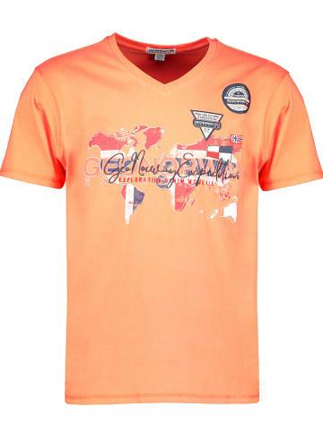 """Geographical Norway Shirt """"Japaye"""" oranje"""
