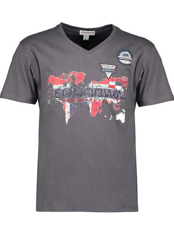 "Geographical Norway Shirt ""Japaye"" grijs"