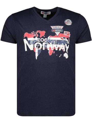 """Geographical Norway Koszulka """"Japaye"""" w kolorze granatowym"""