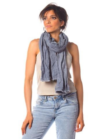 """La Compagnie Du Lin Linnen sjaal """"Abricot"""" blauw - (L)180 x (B)70 cm"""
