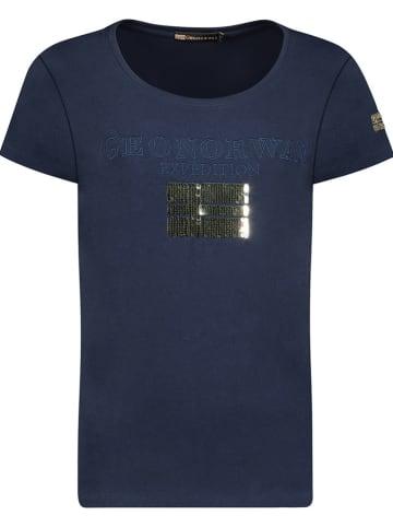 "Geographical Norway Shirt ""Jassy"" donkerblauw"