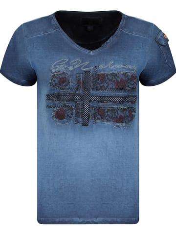 """Geographical Norway Koszulka """"Jepson"""" w kolorze granatowym"""