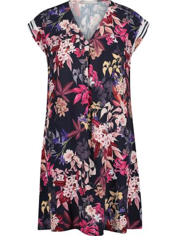 BETTY & CO Sukienka w kolorze granatowo-różowym