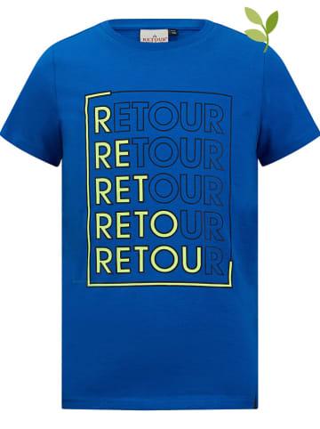 """Retour Koszulka """"Enrico"""" w kolorze niebieskim"""