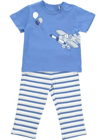 Kanz 2tlg. Outfit in Blau/ Weiß