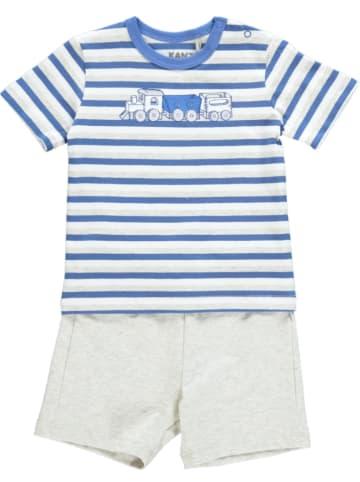 Kanz 3tlg. Outfit in Blau/ Weiß/ Hellgrau