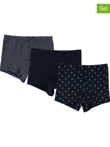 Schöller kids 3-delige set: boxershorts zwart/meerkleurig