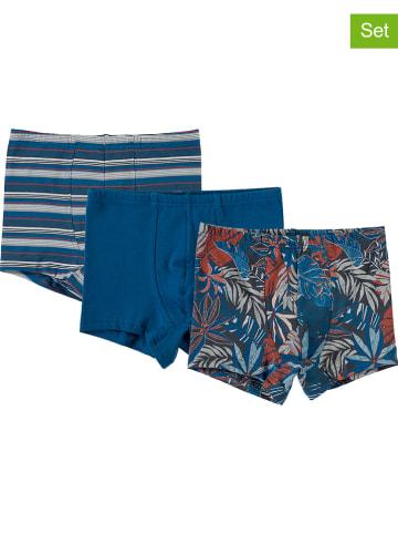Schöller kids 3-delige set: boxershorts blauw/meerkleurig