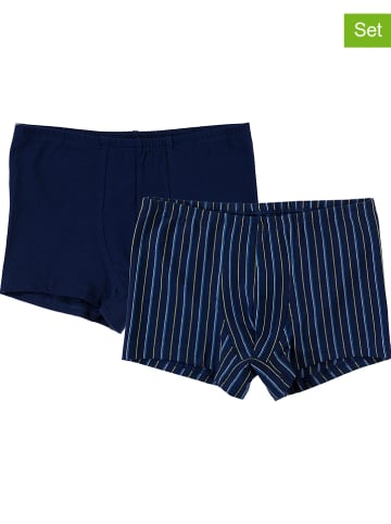Schöller kids 2-delige set: boxershorts donkerblauw/meerkleurig
