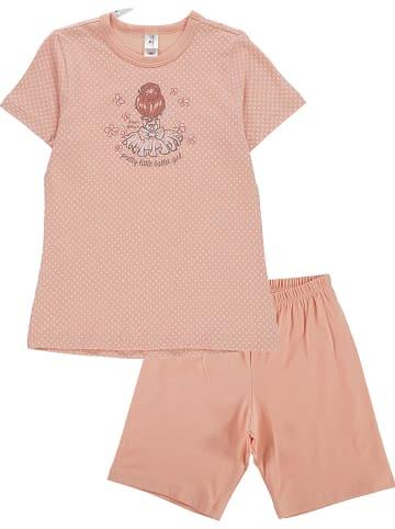 Schöller kids Pyjama abrikooskleurig/wit