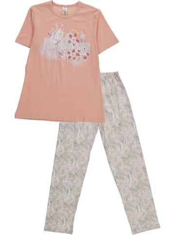 Schöller kids Pyjama in Apricot/ Bunt