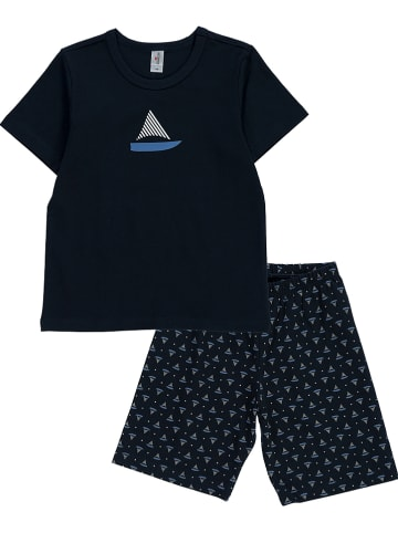 Schöller kids Pyjama donkerblauw/grijs