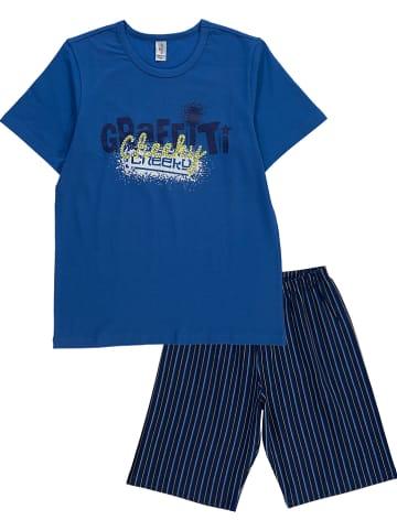 Schöller kids Piżama w kolorze granatowo-niebieskim