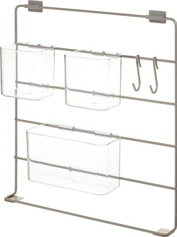 "Idesign Wandorganizer ""Ariel"" beige - (B)41,4 x (H)42,4 x (D)8,9 cm"