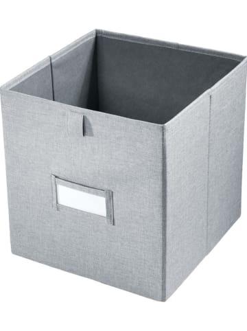 """Idesign Aufbewahrungsbox """"Codi"""" in Grau - (B)27 x (H)28 x (T)27 cm"""