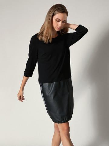 Molton Kleid in Schwarz