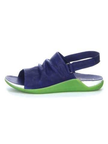 "Think! Leren sandalen ""Sandaal"" donkerblauw"
