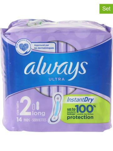 """Always 6-delige set: maandverbanden """"Ultra Instant Dry"""", elk 14 stuks"""