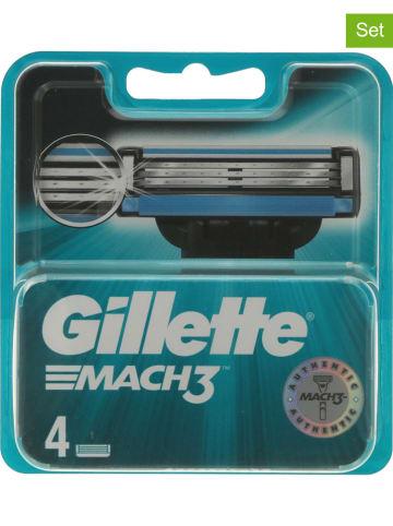 """Gillette 2-delige set: scheermesjes """"Mach 3"""", elk 4 stuks"""