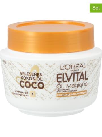 """L'Oréal 3-delige set: haarmaskers """"Elvital Öl Magique"""", elk 270 ml"""