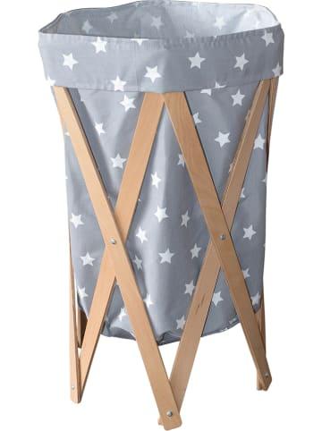 Woody Kid Store Aufbewahrungskorb in Grau - (H)72 x Ø 42 cm
