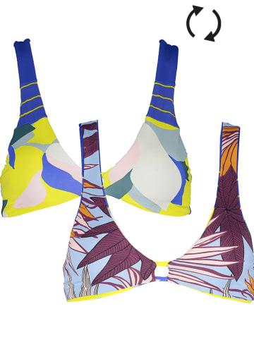 """Maaji Omkeerbare bikinitop """"Jessamine"""" blauw/geel/paars"""