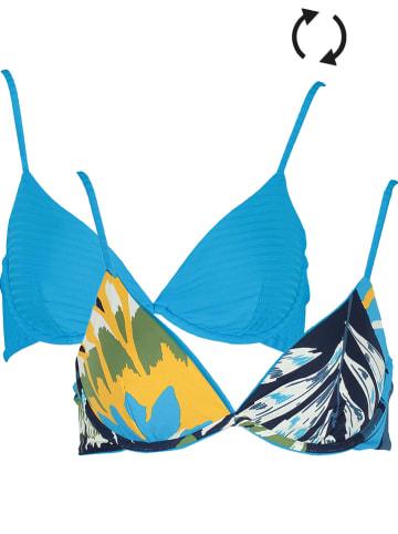 "Maaji Omkeerbare bikinitop ""Bluejay Lovely"" blauw/donkerblauw"