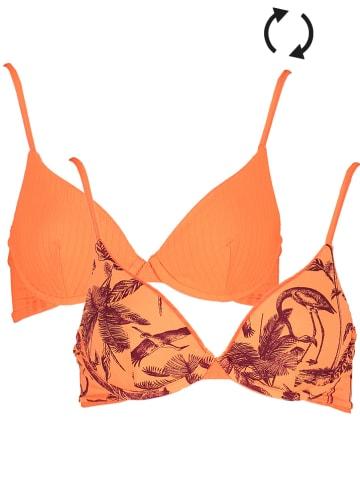 """Maaji Dwustronny biustonosz bikini """"Orange Sicle Dainty"""" w kolorze pomarańczowym"""