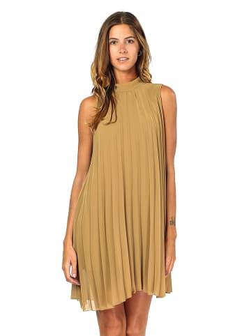ASSUILI Sukienka w kolorze karmelowym