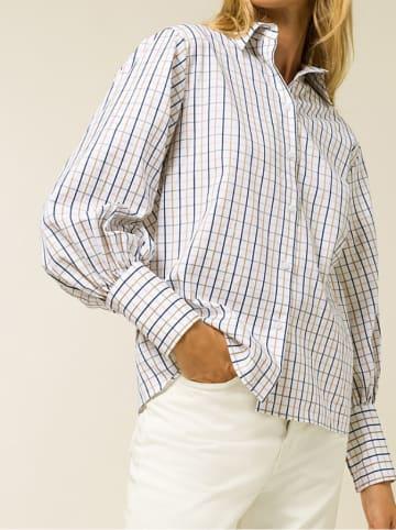IVY & OAK Bluzka w kolorze biało-beżowo-niebieskim