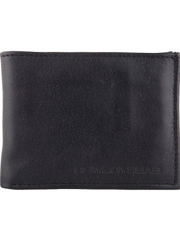 """Cowboysbag Leren portemonnee """"Comet"""" zwart - (B)12 x (H)10 x (D)2 cm"""