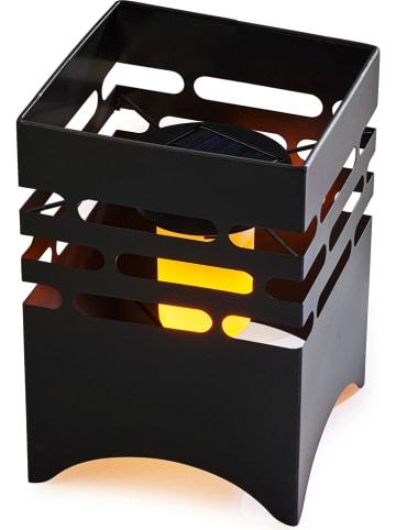AMARE Solarne palenisko w kolorze czarnym - 15,5 x 23,5 x 15,5 cm