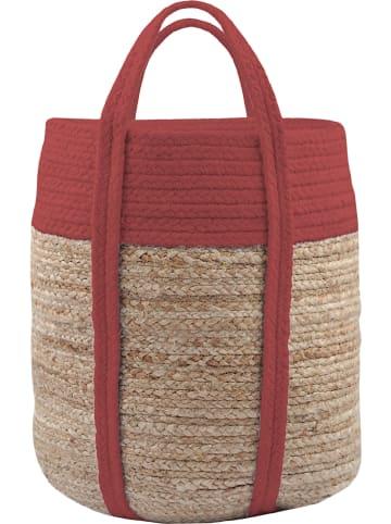 """STOF France Kosz """"Palawan"""" w kolorze czerwono-beżowym - wys. 35 x Ø 30 cm"""