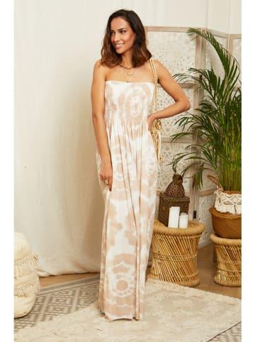 L'armoire de Suzette Sukienka w kolorze beżowo-białym