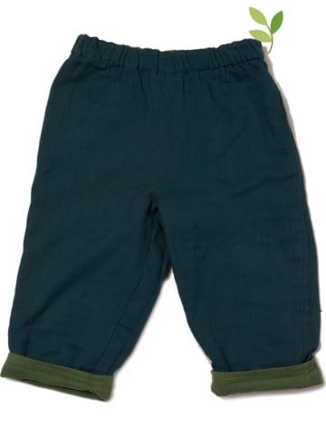 Little Green Radicals Dwustronne spodnie w kolorze granatowo-oliwkowym