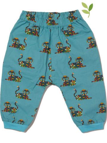 Little Green Radicals Spodnie w kolorze niebieskim