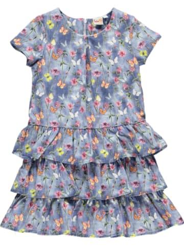 Topo Kleid in Blau/ Bunt