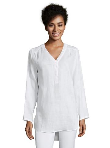 CARTOON Lniana bluzka w kolorze białym